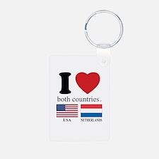 USA-NETHERLANDS Keychains