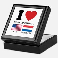 USA-NETHERLANDS Keepsake Box
