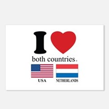 USA-NETHERLANDS Postcards (Package of 8)
