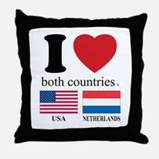 USA-NETHERLANDS Throw Pillow