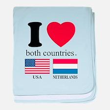 USA-NETHERLANDS baby blanket