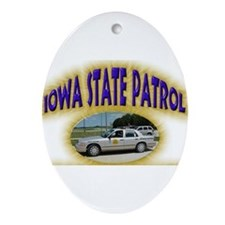Iowa State Patrol Ornament (Oval)