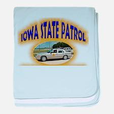 Iowa State Patrol baby blanket