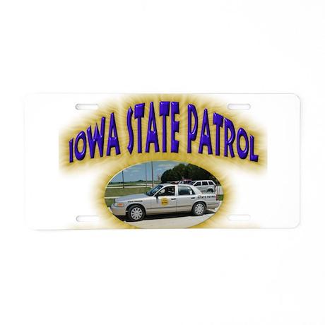 Iowa State Patrol Aluminum License Plate