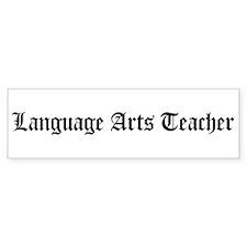 Language Arts Teacher Bumper Bumper Sticker
