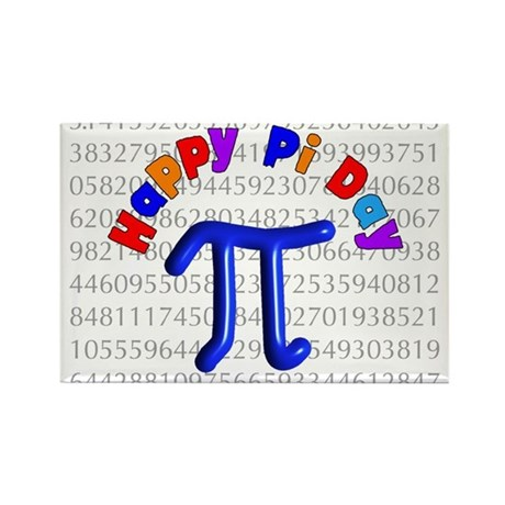 Pi Day Rectangle Magnet (10 pack)