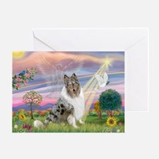 CloudAngel-Collie (B) Greeting Card