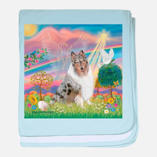CloudAngel-Collie (B) baby blanket