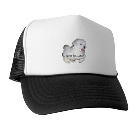 I'm with the Maltese Trucker Hat