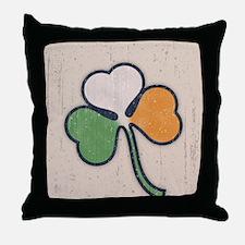 Lucky Irish Shamrock Throw Pillow