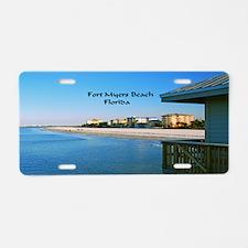 Fort Myers Aluminum License Plate