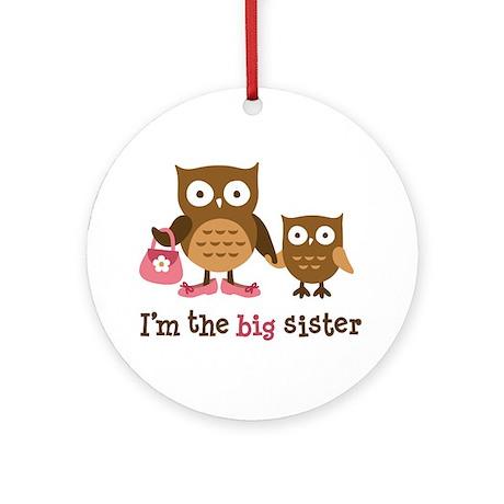 Big Sister - Mod Owl Ornament (Round)