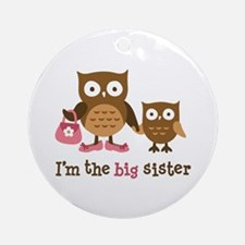 Big Sister - Mod Owl Ornament (Round)