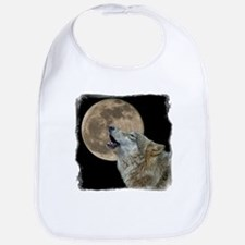 Unique Wolf and moon Bib