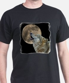 Cute Wolf and moon T-Shirt