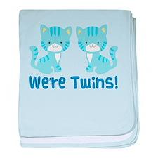 Twin Blue Kittens baby blanket