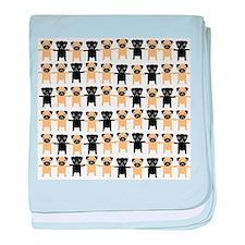 StringOPugs baby blanket