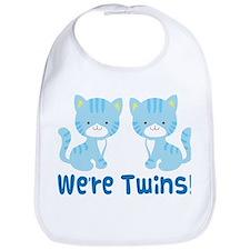 Twin Blue Kittens Bib