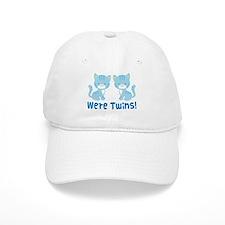 Twin Blue Kittens Baseball Cap