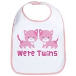 Twin Pink Kittens Bib