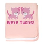 Twin Pink Kittens baby blanket