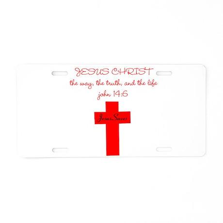 Jesus Christ the way the trut Aluminum License Pla