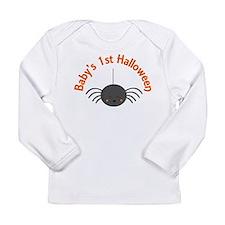 1st Halloween Spider Long Sleeve Infant T-Shirt