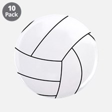 """Volleyball 3.5"""" Button (10 pack)"""