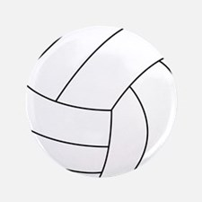 """Volleyball 3.5"""" Button"""