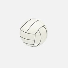 Volleyball Mini Button (10 pack)