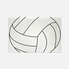 Volleyball Rectangle Magnet (100 pack)