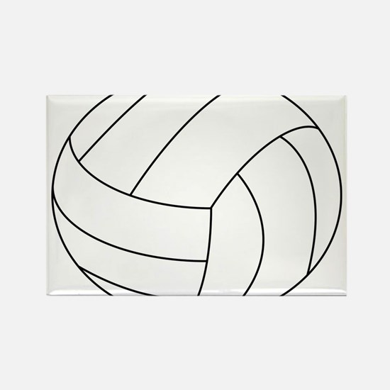 Volleyball Rectangle Magnet (10 pack)