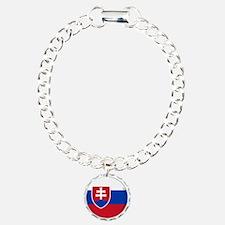 Cool Slovak National flag designs Bracelet