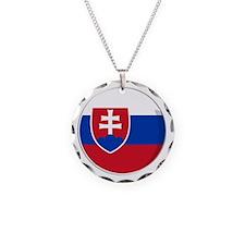 Cool Slovak National flag designs Necklace