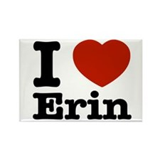 I love Erin Rectangle Magnet