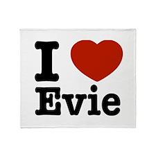 I love Evie Throw Blanket
