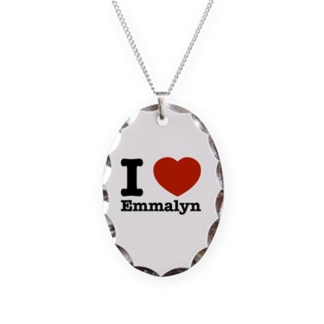 I love Emmalyn Necklace Oval Charm