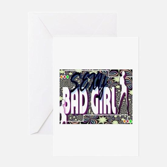 sexy bad girl Greeting Card