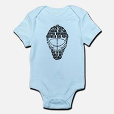 Hockey Goalie Mask Text Onesie