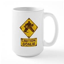 Hockey Goalie Caution Sign Mug