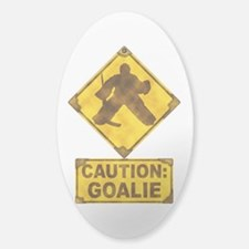 Hockey Goalie Caution Sign Decal