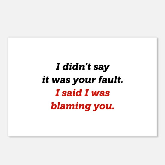 Blaming You Postcards (Package of 8)