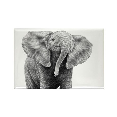 Baby African Elephant Rectangle Magnet