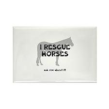 I RESCUE Horses Rectangle Magnet