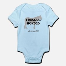 I RESCUE Horses Infant Bodysuit