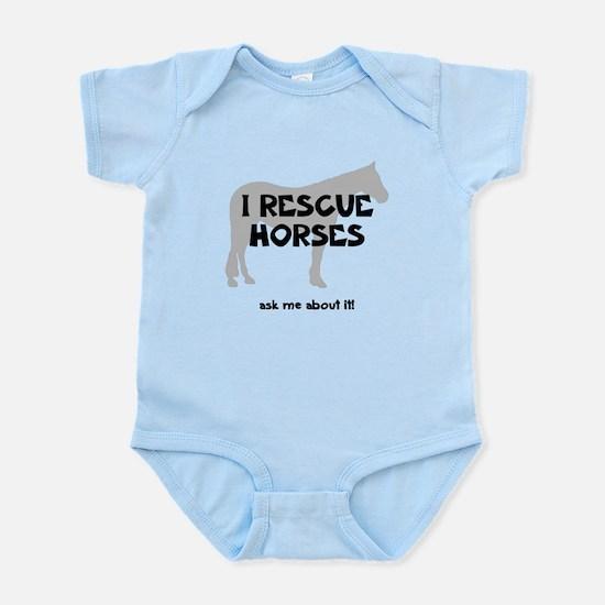I RESCUE Horses Infant Bodysuit
