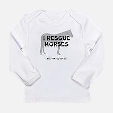 I RESCUE Horses Long Sleeve Infant T-Shirt