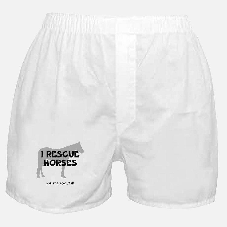 I RESCUE Horses Boxer Shorts