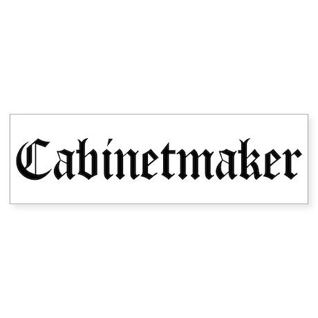 Cabinetmaker Bumper Sticker