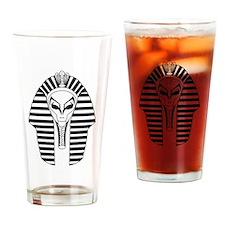 Cute Alien ufo Drinking Glass